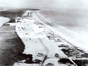 an historical aerial photo of the Isle of Palms