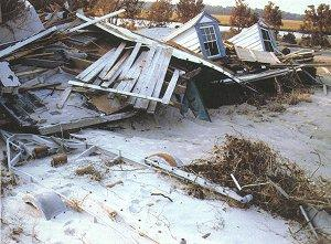 Hurricane Hugo aftermath, McClellanville, SC