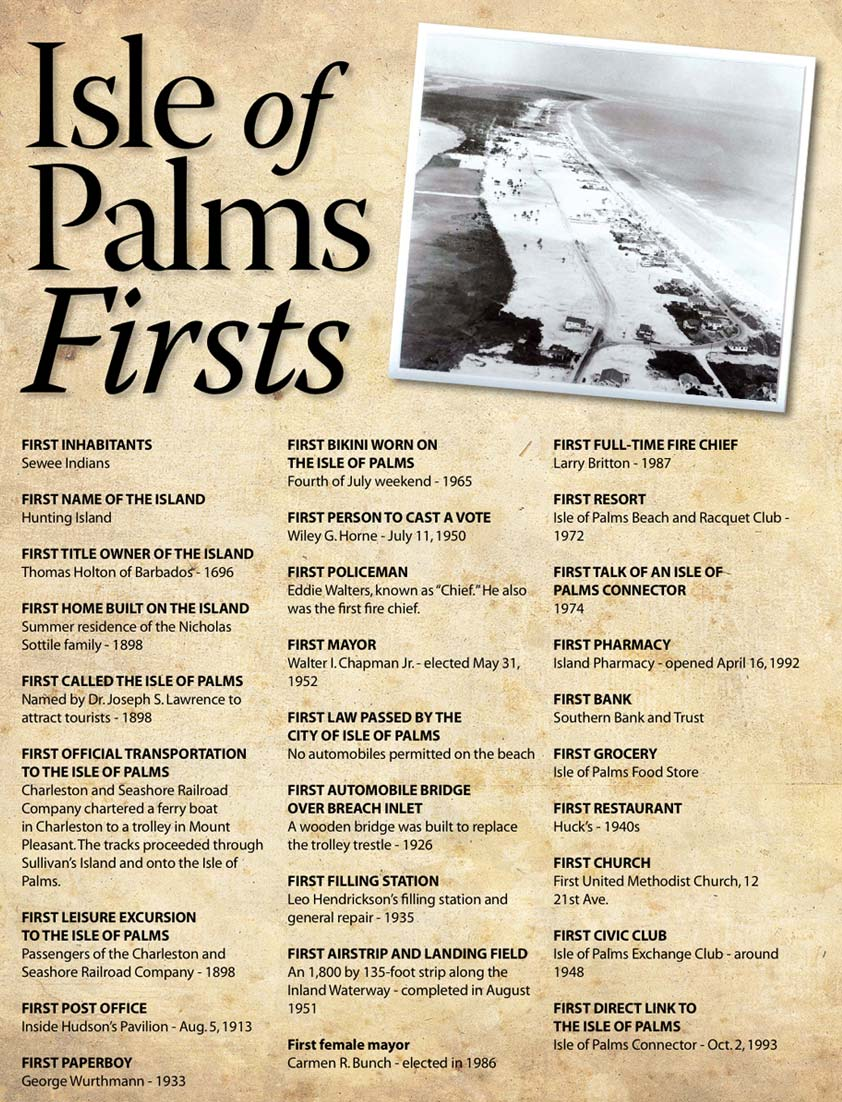 Isle of Palms firsts