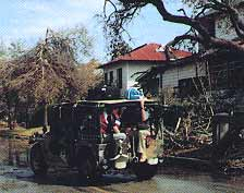 Damage in Sullivan's Island after Hurricane Hugo